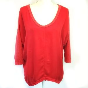 Anthropologie left of center small top